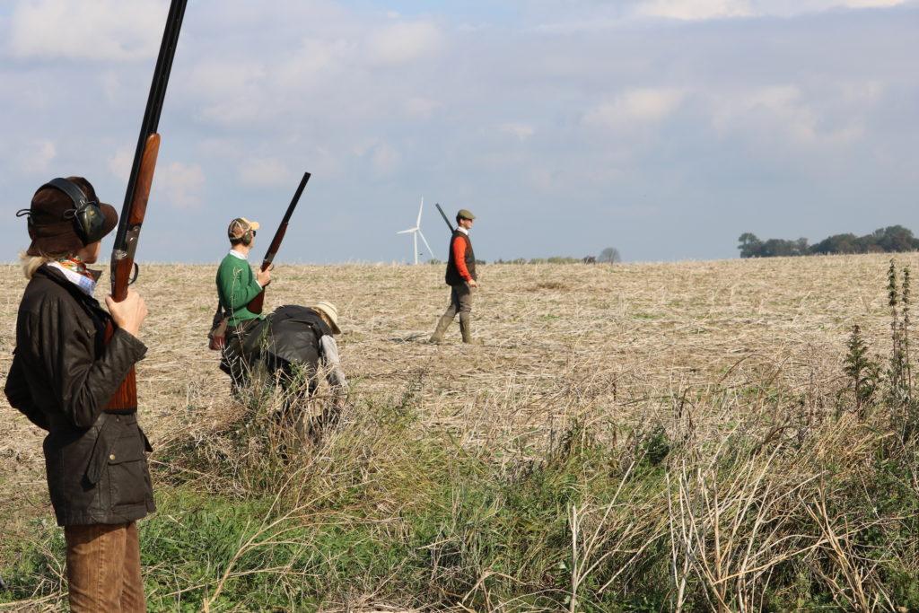 Jaktsälsskap på fält