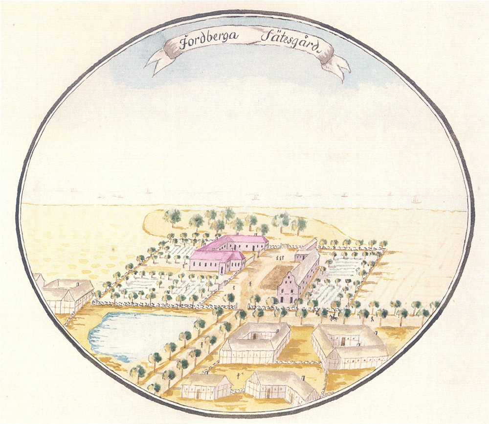 Historisk karta över Jordberga