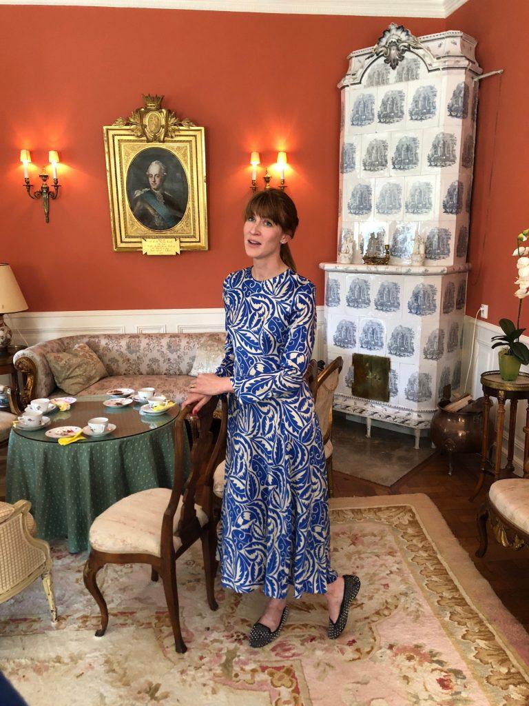 Slottvisning Marie von Arnold ägarfrun & VD för Jordberga Events